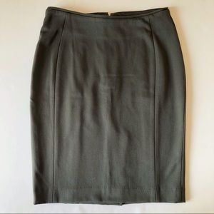 H&M Classy Fitted Olive Green Stretch Pencil Skirt